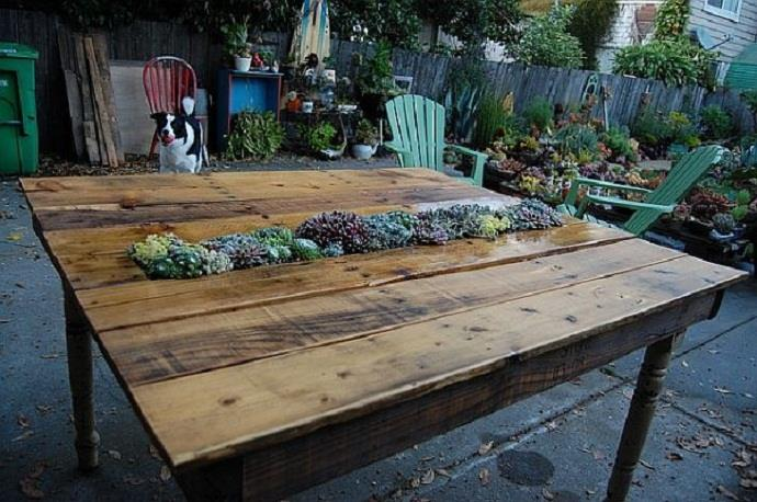table jardin palette