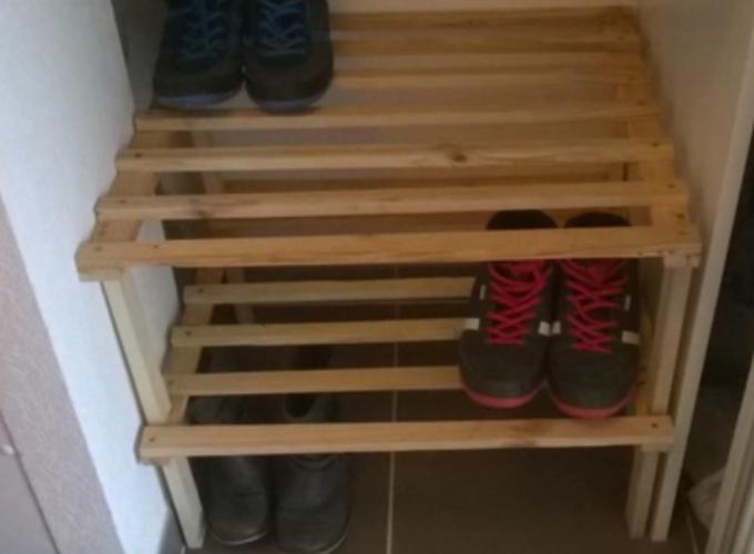 Faire un rangement pour chaussures en palette