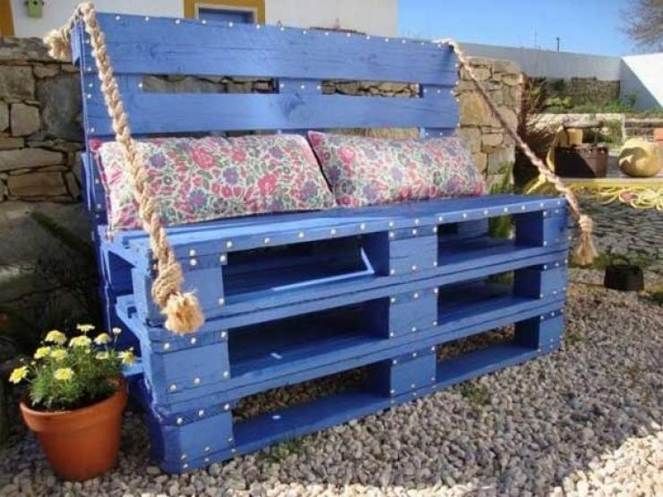 banc bleu palette