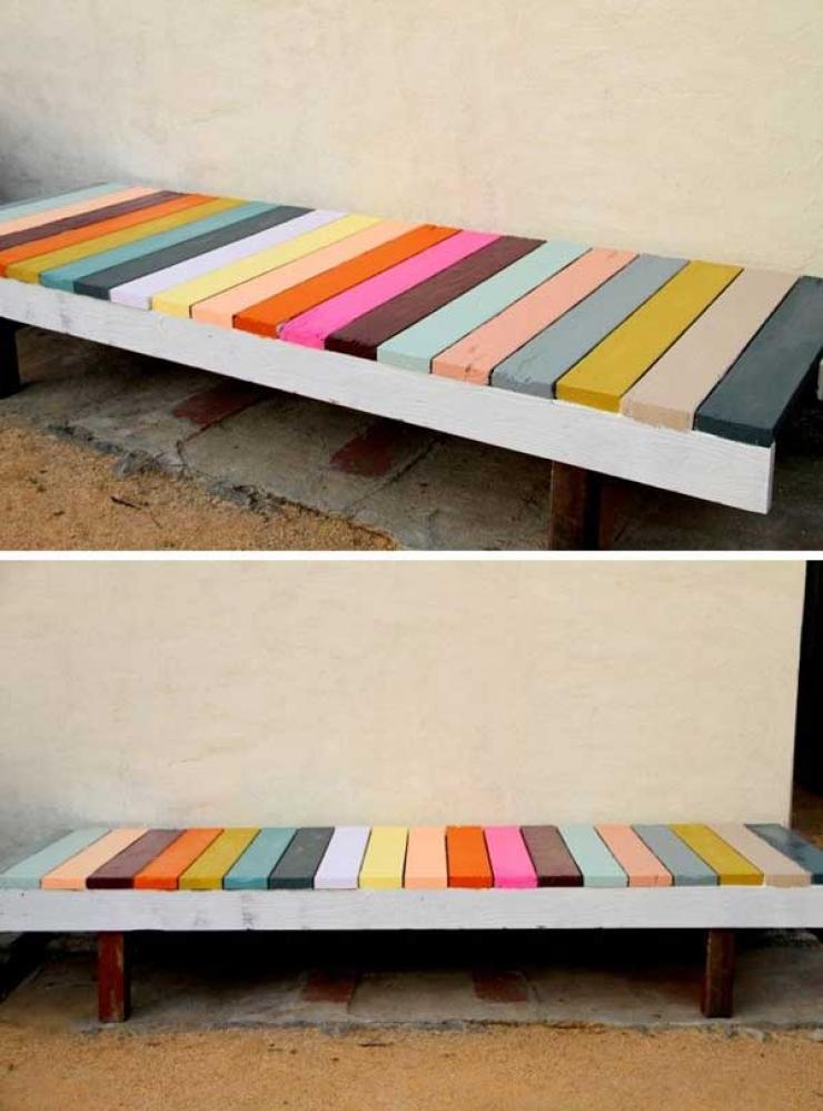banc en bois de palette