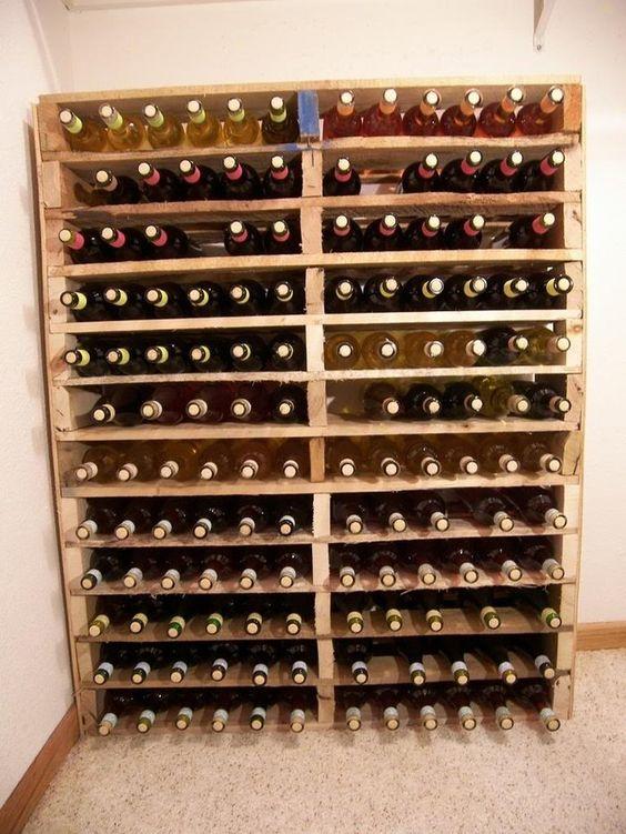 cave a vin en palette