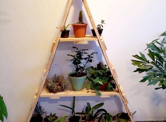 support pour plante en palette