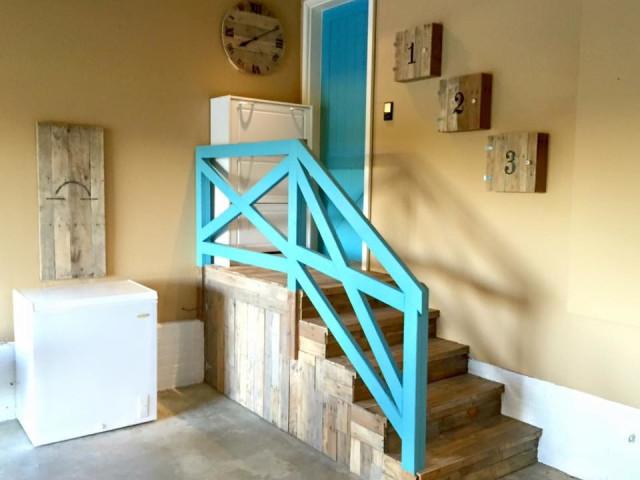 escalier en palette