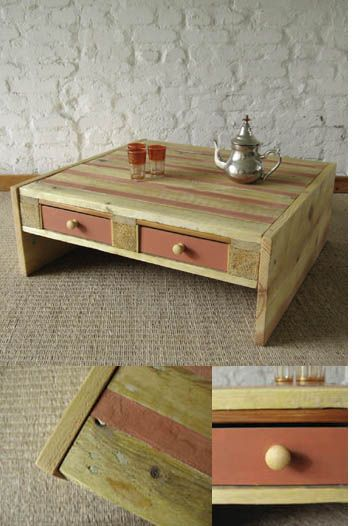 idee table basse en palette