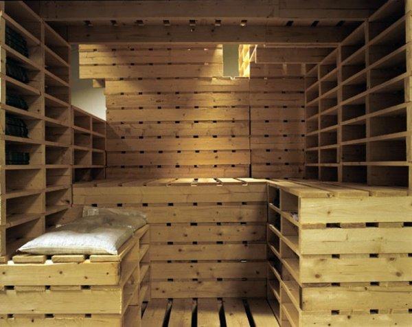 faire un sauno en palette