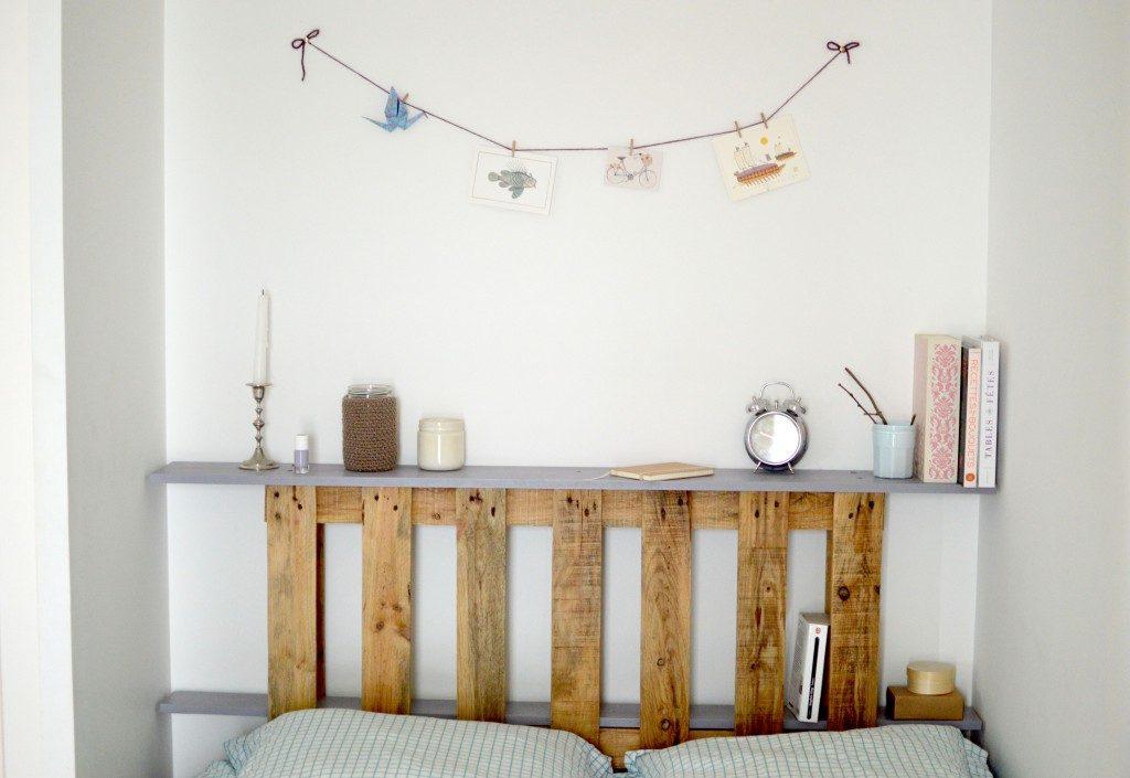 comment faire une tete de lit en palette. Black Bedroom Furniture Sets. Home Design Ideas