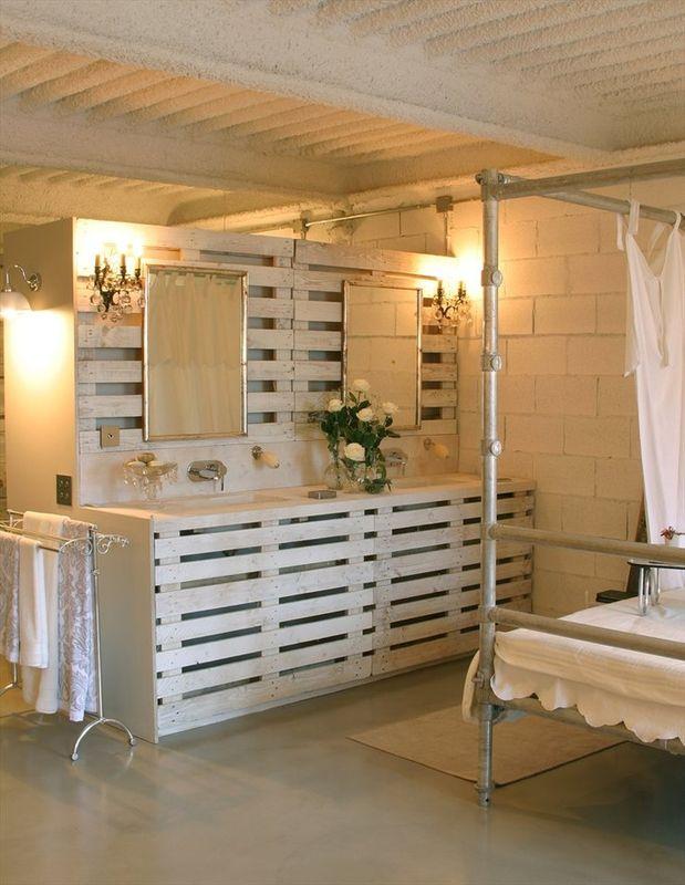 Comment faire des meubles en palette for Comment ventiler une salle de bain