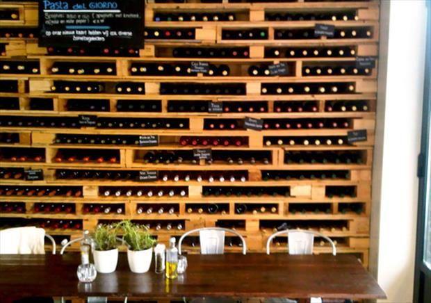 rangement vin en palette