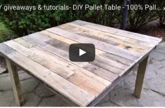 Fabrique une table en palette