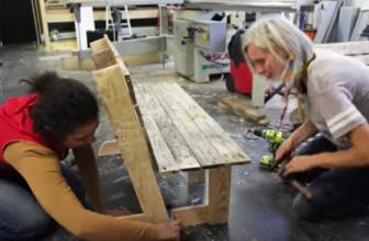 Comment faire un banc en bois de palettes