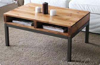 Une serie de photos de meuble en palette