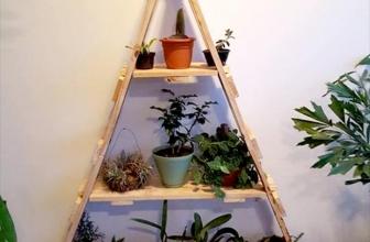 Faire un support pour plante en palette